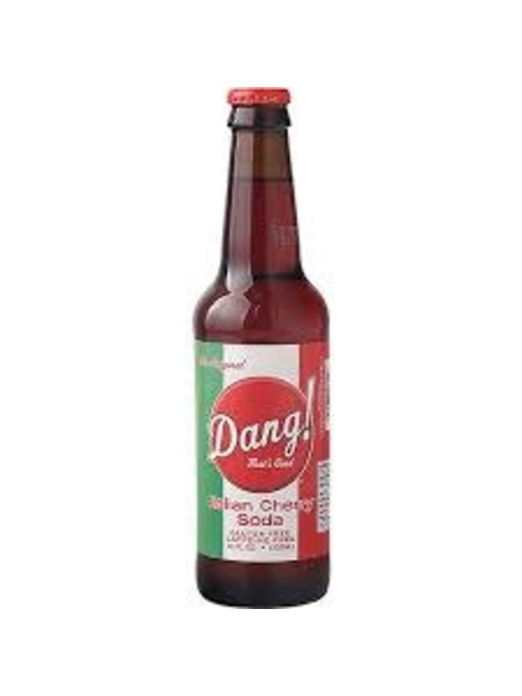 Dang! That's Good Italian Cherry Soda, Imperial Flavors Beverage Company, Milwaukee, Wisconsin