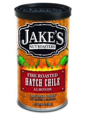 Jake's Fire Roasted Hatch Chile Almonds 7oz. can, Newman, CA