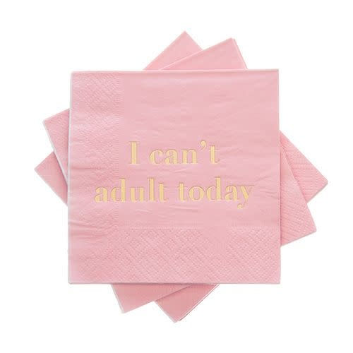 Cocktail Napkin - I Can't Adult Today