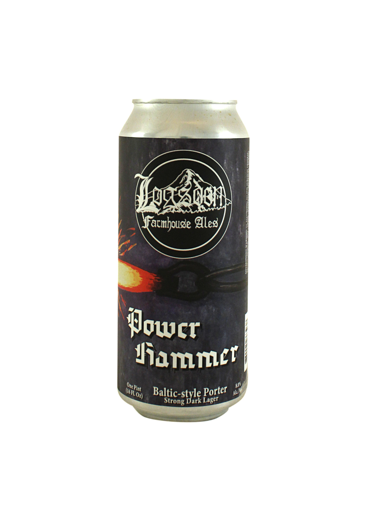 "Logsdon Farmhouse Ales ""Power Hammer"" Baltic-Style Porter 16oz. can - Washougal, Washington"
