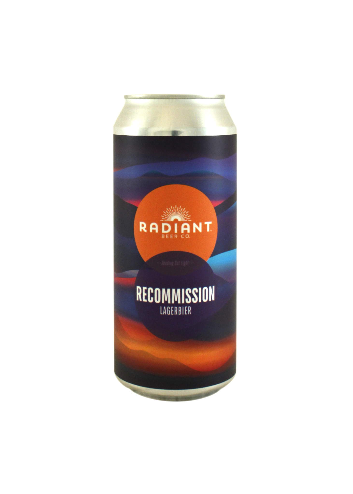 """Radiant Beer Co. """"Recommission"""" Lagerbier 16oz. can - Anaheim, CA"""