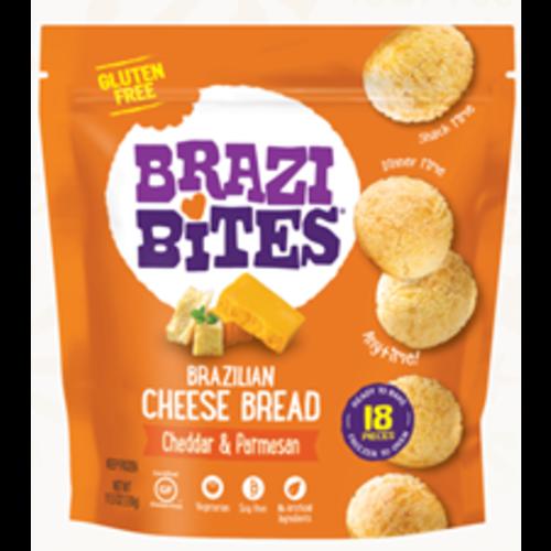 Brazi Bites Brazilian Cheese Bread, Cheddar & Parmesan, 11.5 oz