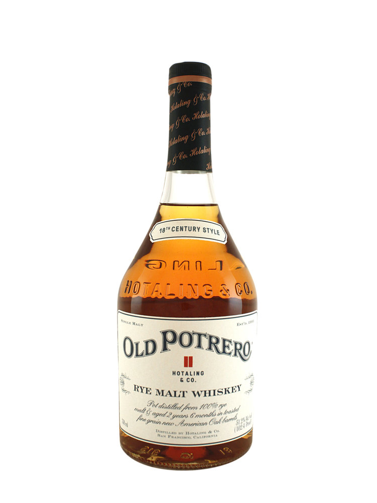 Old Potrero Single Malt Straight Rye Whiskey, San Francisco