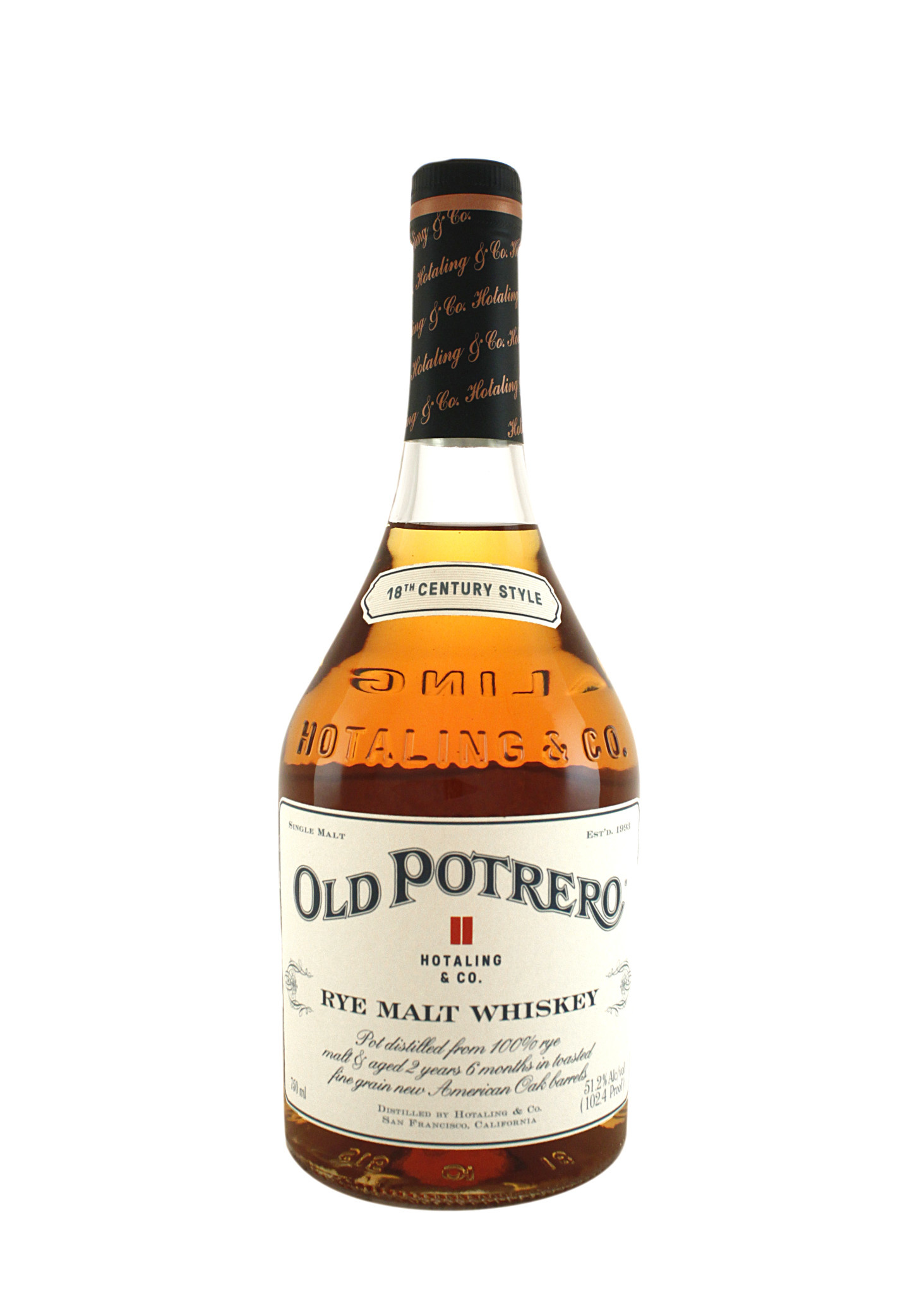 Old Potrero Single Malt Straight Rye Whiskey, San Francisco