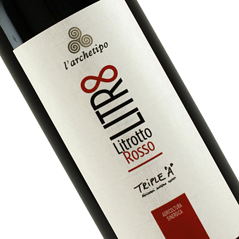 L'Archetipo 2017 Litrotto Rosso Organic, 1 liter, Puglia Italy