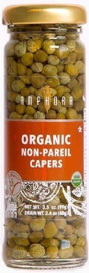 Amphora, Organic Non-Pareil Capers, 3.5 oz