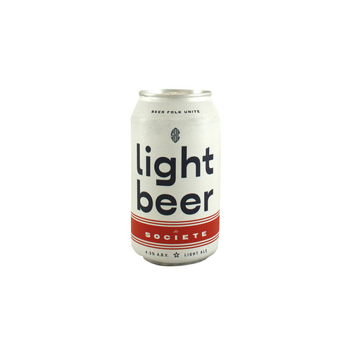 "Societe Brewing ""Light Beer"" 12oz. can - San Diego, CA"