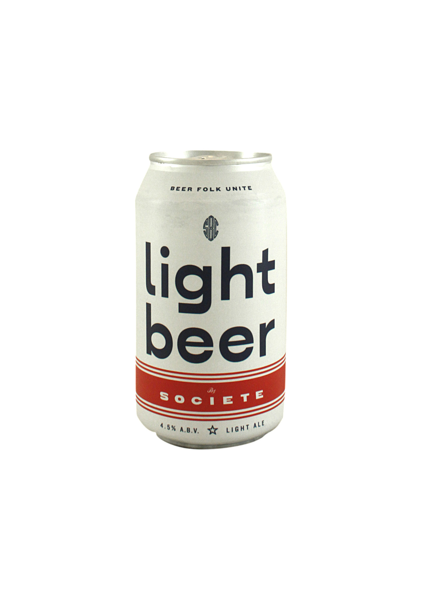 "Societe Brewing ""Light Beer"" 12oz. can - San Diego, CA"