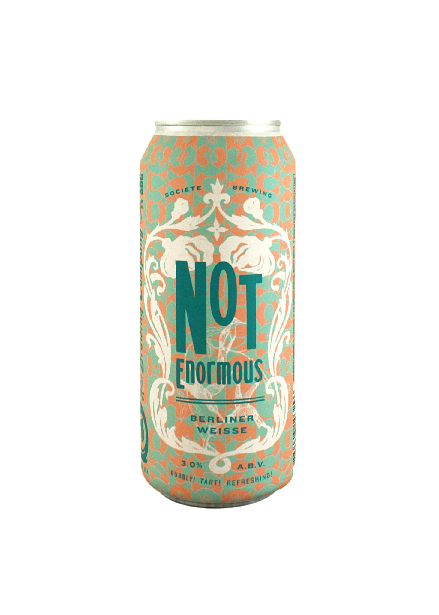 "Societe Brewing ""Not Enormous"" Berliner Weisse 16oz. can - San Diego, CA"