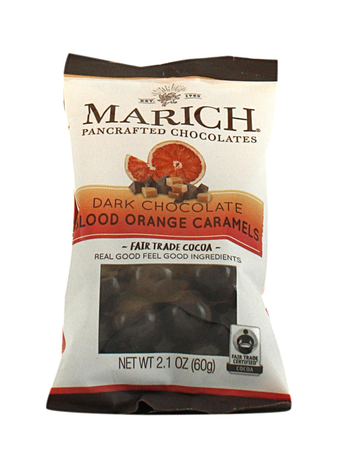 Marich Dark Chocolate Blood Orange Caramels 2.1 oz