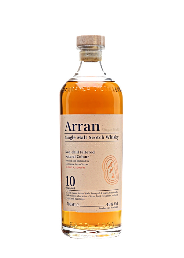 Arran 10 Year Single Malt Scotch Whisky, Isle of Arran