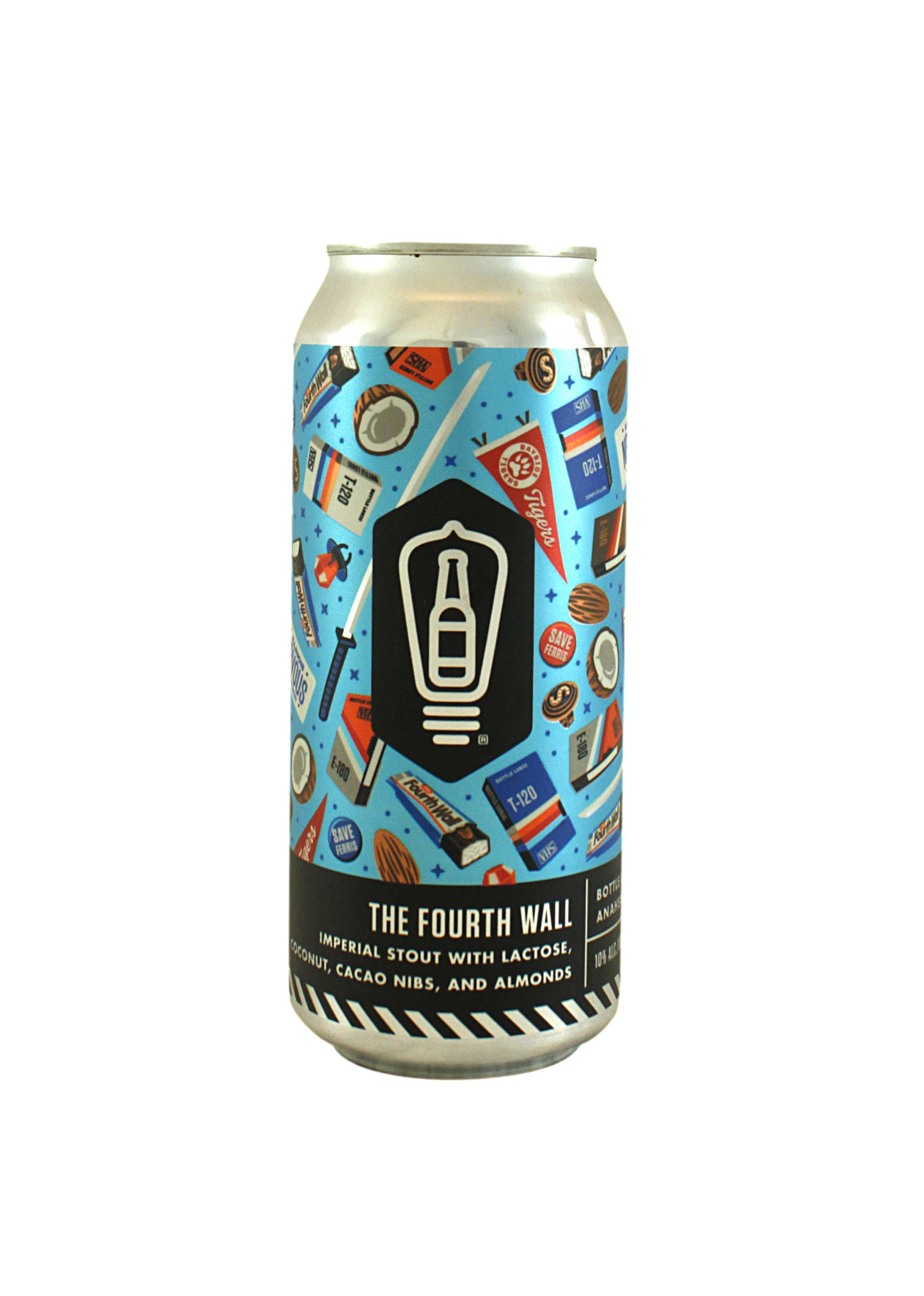 """Bottle Logic Brewing """"The Fourth Wall"""" Imperial Stout w/ Coconut, Cacao & Almonds 16oz. can - Anaheim, CA"""