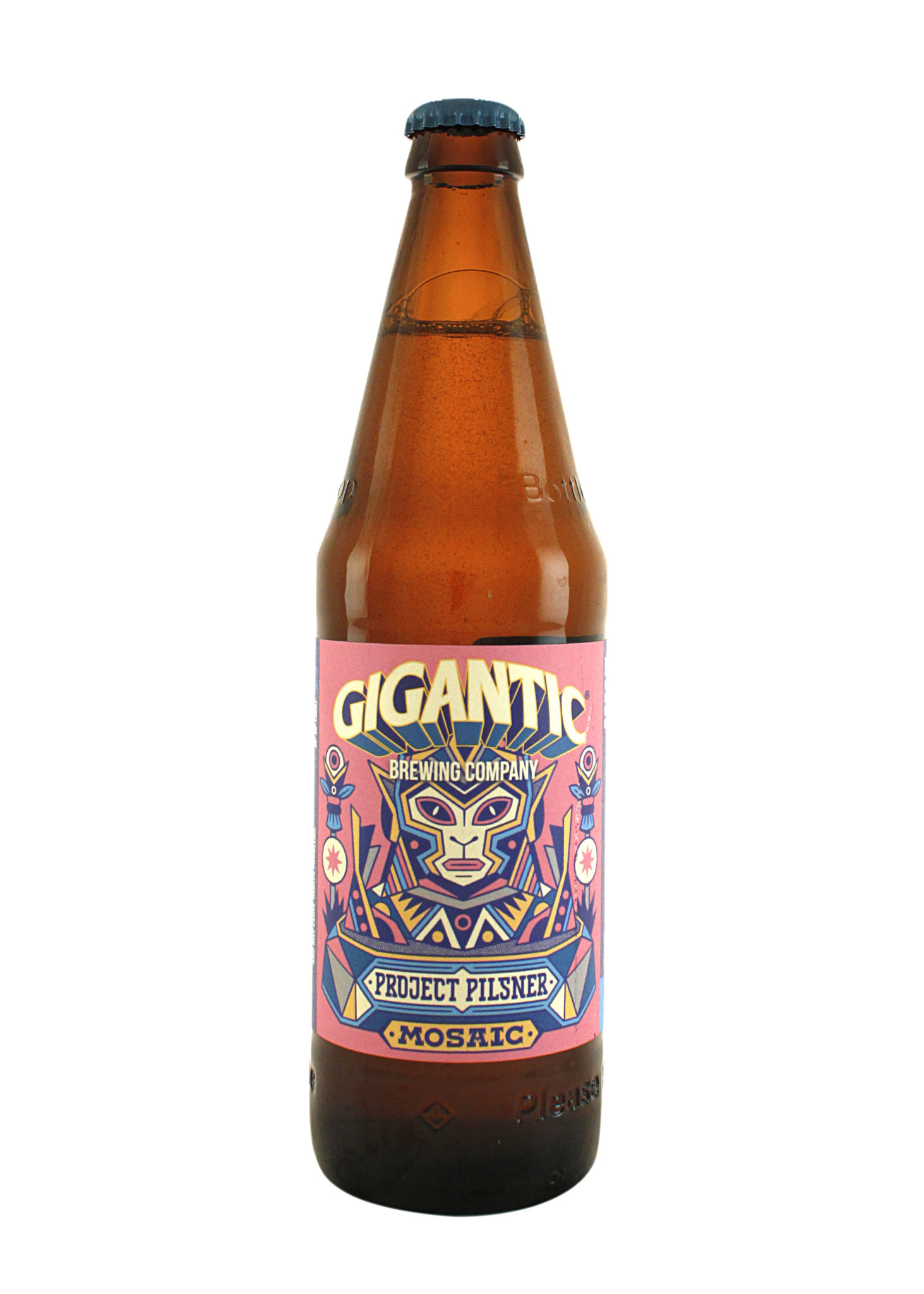 "Gigantic Brewing Co ""Project Pils: Mosaic"" Hoppy Pils 500ml bottle- Portland, Oregon"