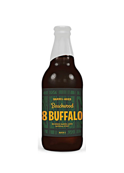 "Beachwood Brewing ""8 Buffalo"" Bourbon Barrel Aged Imperial Stout  12oz. bottle - Long Beach, CA"
