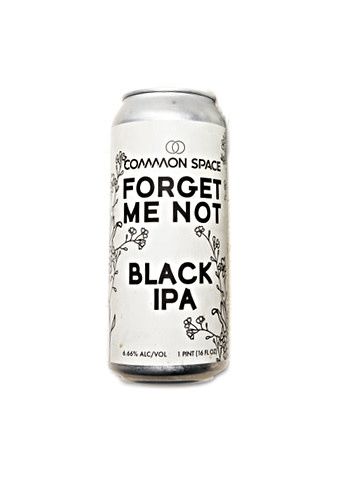 """Common Space Brewery """"Forget Me Not"""" Black IPA  16oz. can - Hawthorne, CA"""