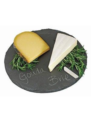 """True Twine Circle Slate Cheese Board, 12.5"""" Dia."""