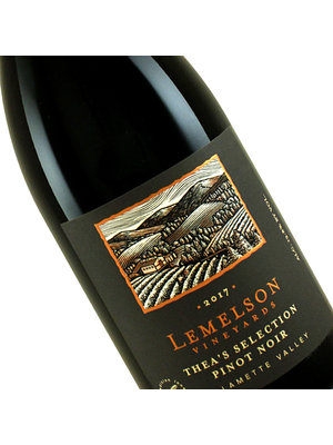 """Lemelson 2017 Pinot Noir """"Thea's Selection"""" Willamette Valley, Oregon"""