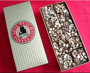 Seal Beach Toffee Co. Original, 1 Pound Box (20 pcs)