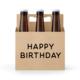 Six-Pack Holder, Cardboard - Happy Birthday
