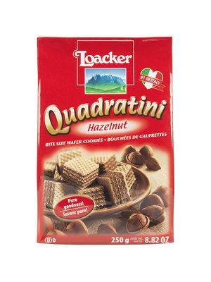 Loacker Quadratini  Hazelnut Wafers, 8.82 oz