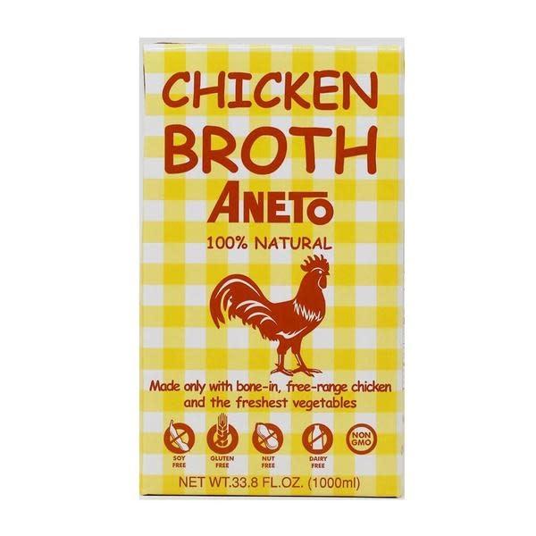 Aneto Chicken Broth, 100% Natural, 33.8 fl. oz.