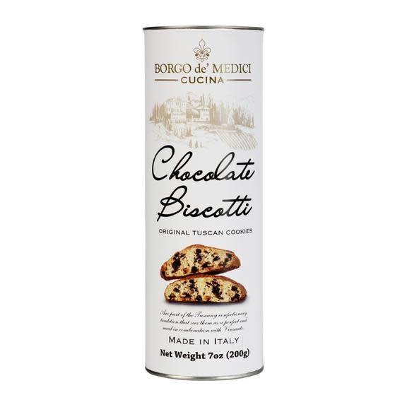 Borgo de' Medici, Chocolate Biscotti Tuscan Cookies 7oz. Tube