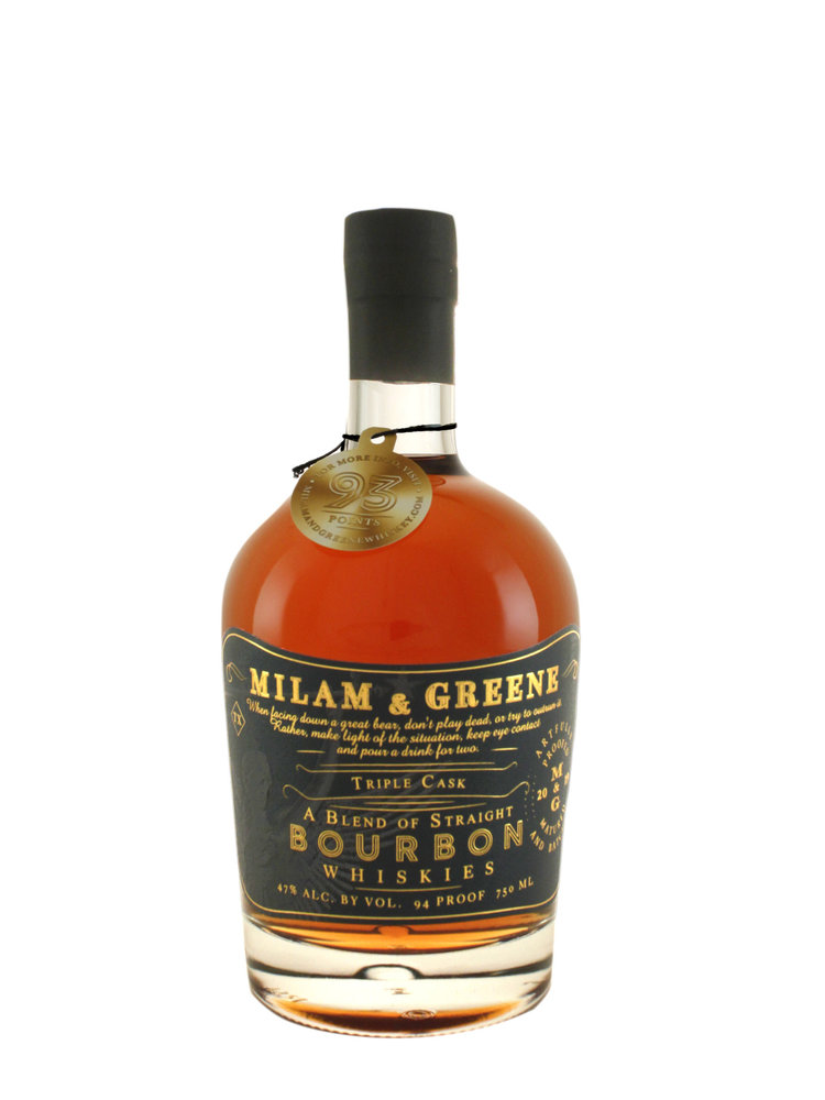 Milam &  Greene Triple Cask Straight Bourbon Whiskey