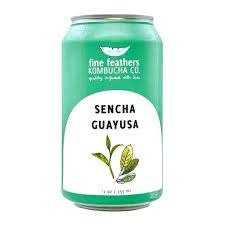"Fine Feathers ""Sencha Guayusa"" Green Tea/Yerba Mate 12o.z can- Long Beach, CA"