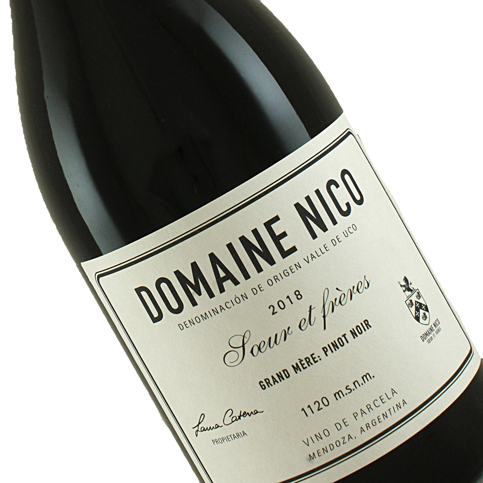 "Domaine Nico 2018 Pinot Noir ""Grand Mere"" Mendoza, Argentina"