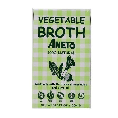 Aneto Vegetable Broth, 100% Natural, 33.8 fl. oz.
