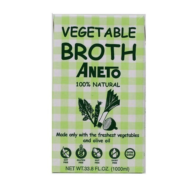 Aneto Vegetable Broth, 100% Natural, 33.8 fl. oz.
