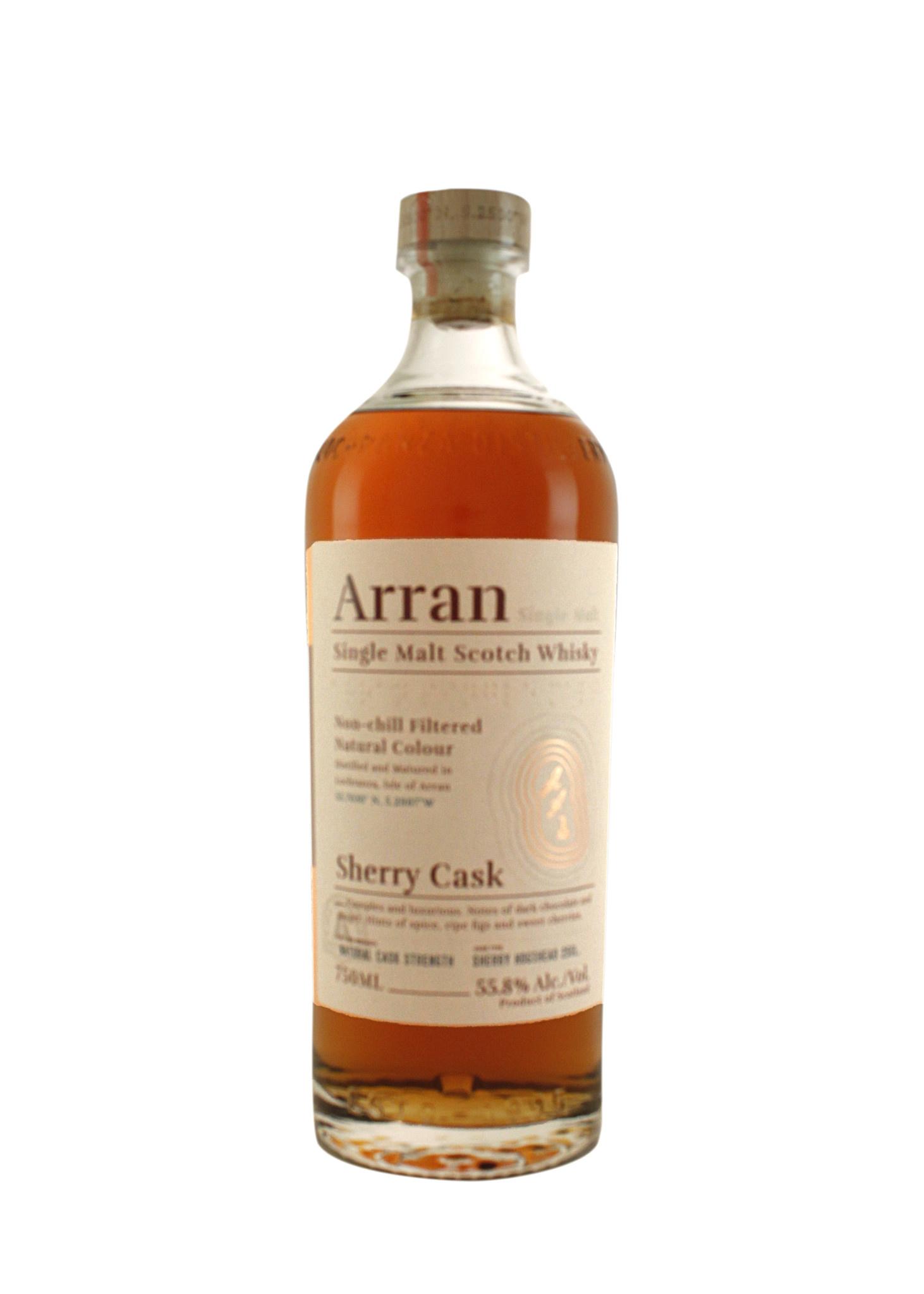 Arran Single Malt Scotch Whisky, Sherry Cask Aged, Isle of Arran