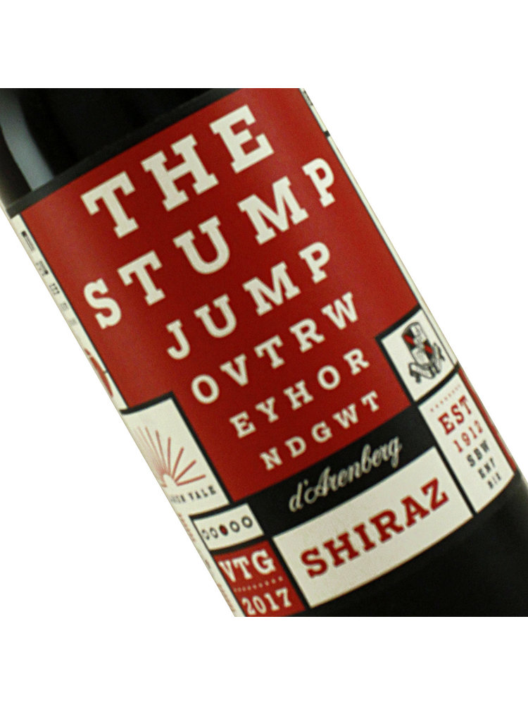 "D'Arenberg 2017  Shiraz ""The Stump Jump"" McLaren Vale"