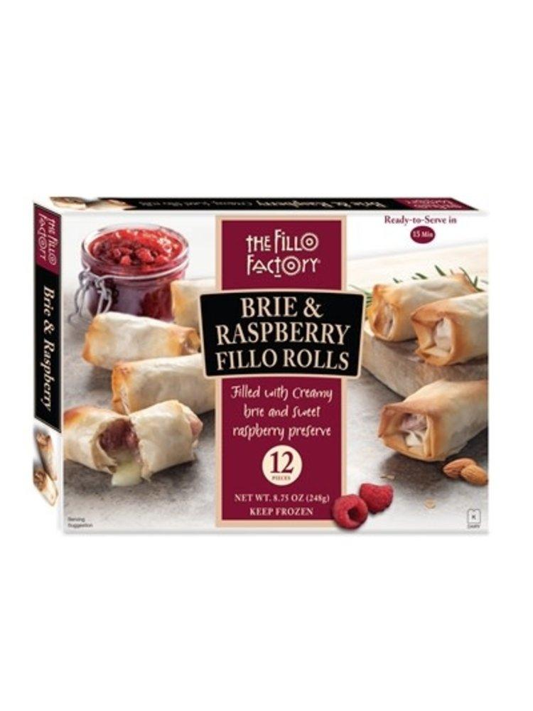 The Fillo Factory, Brie & Raspberry Fillo Rolls, 12 pieces