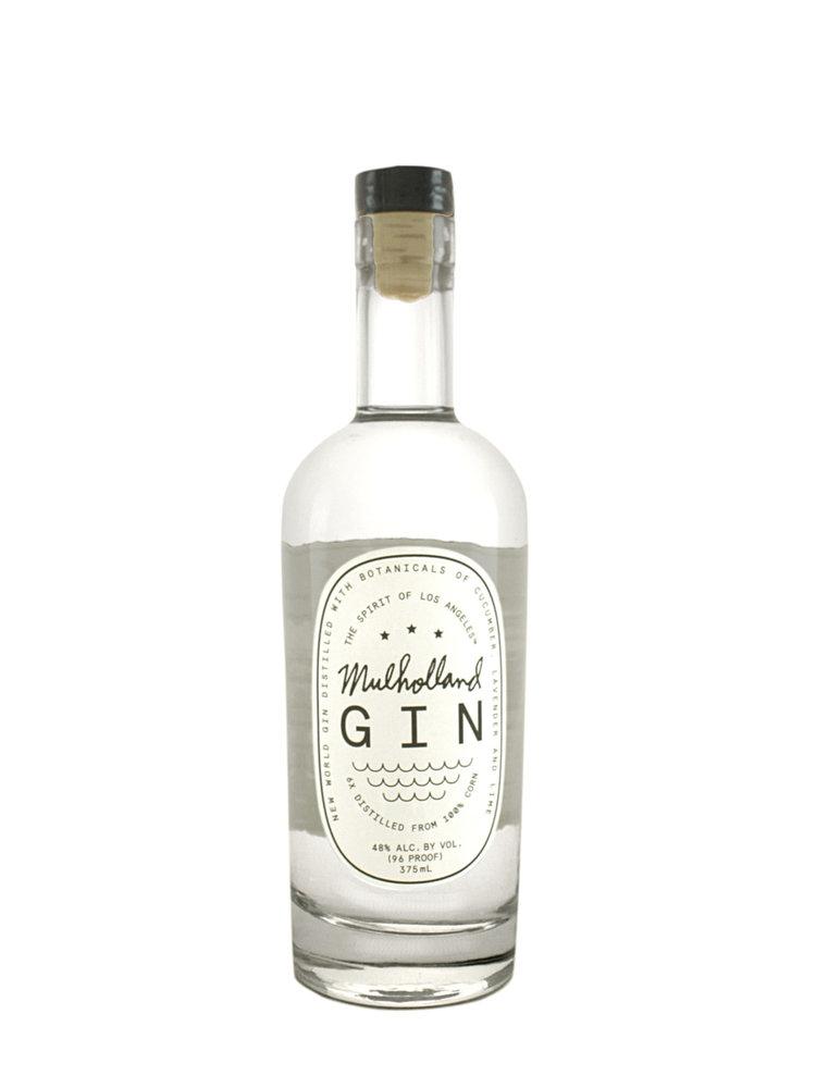 Mulholland Gin, Los Angeles, California half bottle