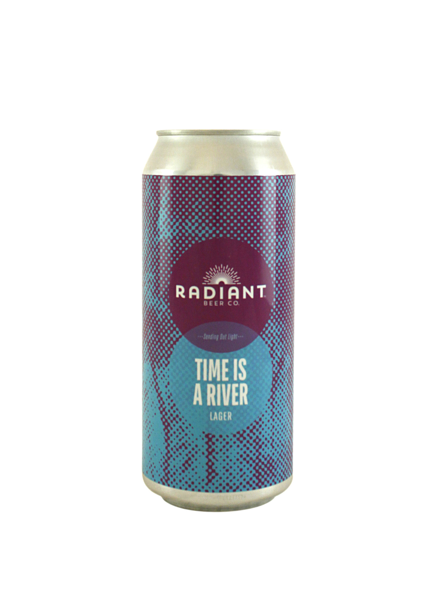 """Radiant Beer Co. """"Time Is A River"""" Lager 16oz, can - Anaheim, CA"""