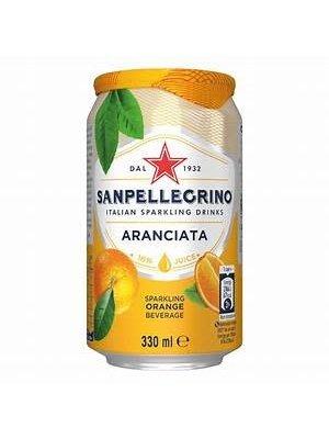 San Pellegrino Aranciata Sparkling Orange Soda, 11.15 oz.