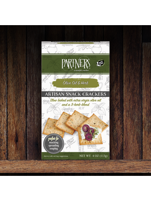 Partners Olive Oil & Herb Artisan Crackers