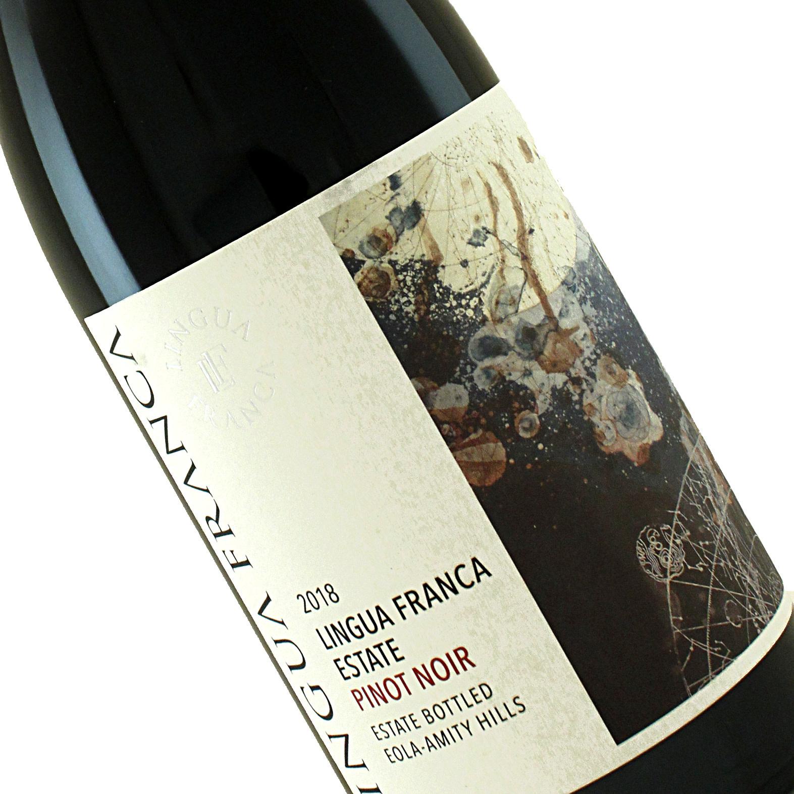 Lingua Franca 2018 Estate Pinot Noir Eola-Amity Hills, Oregon