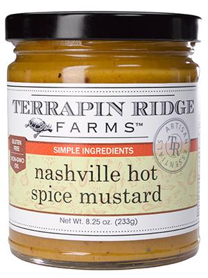 Terrapin Ridge Farms Nashville Hot Spice Mustard, Clearwater, Florida, 8.25 oz.