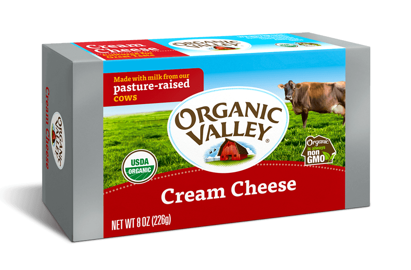 Organic Valley Cream Cheese  8.oz Block