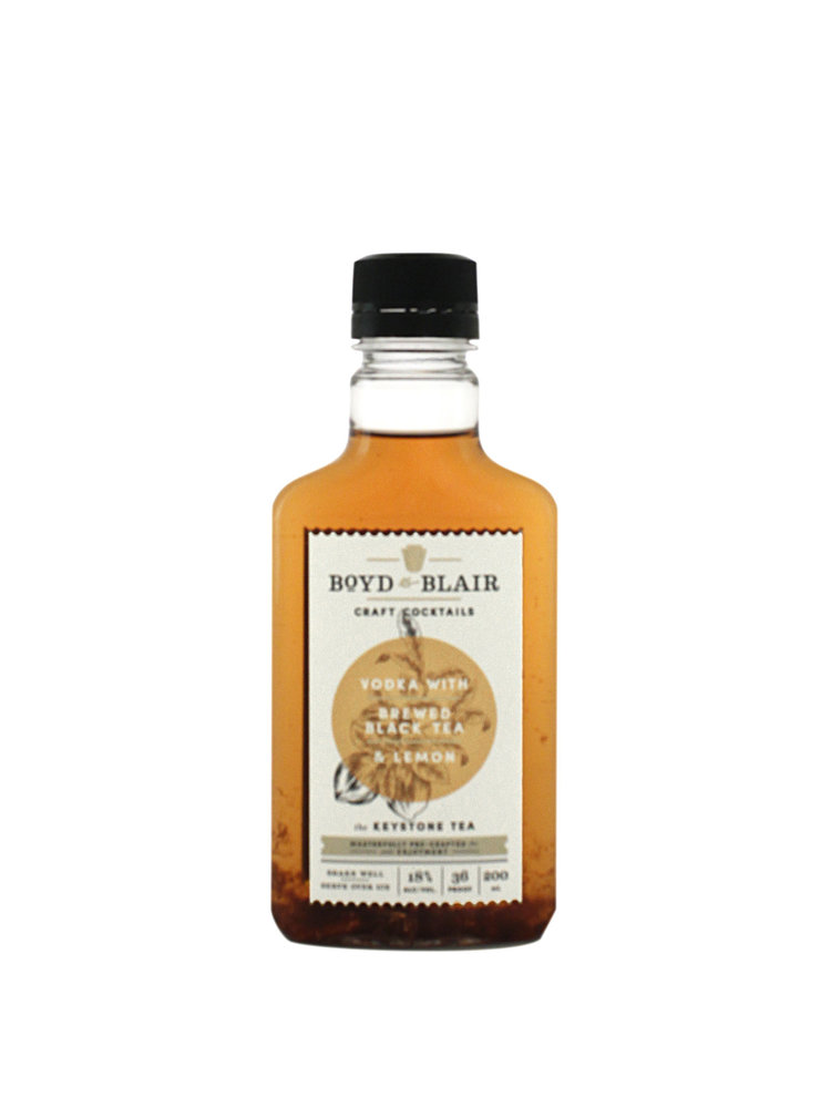 Boyd & Blair Vodka w/ Black Tea & Lemon Craft Cocktail 220ml.