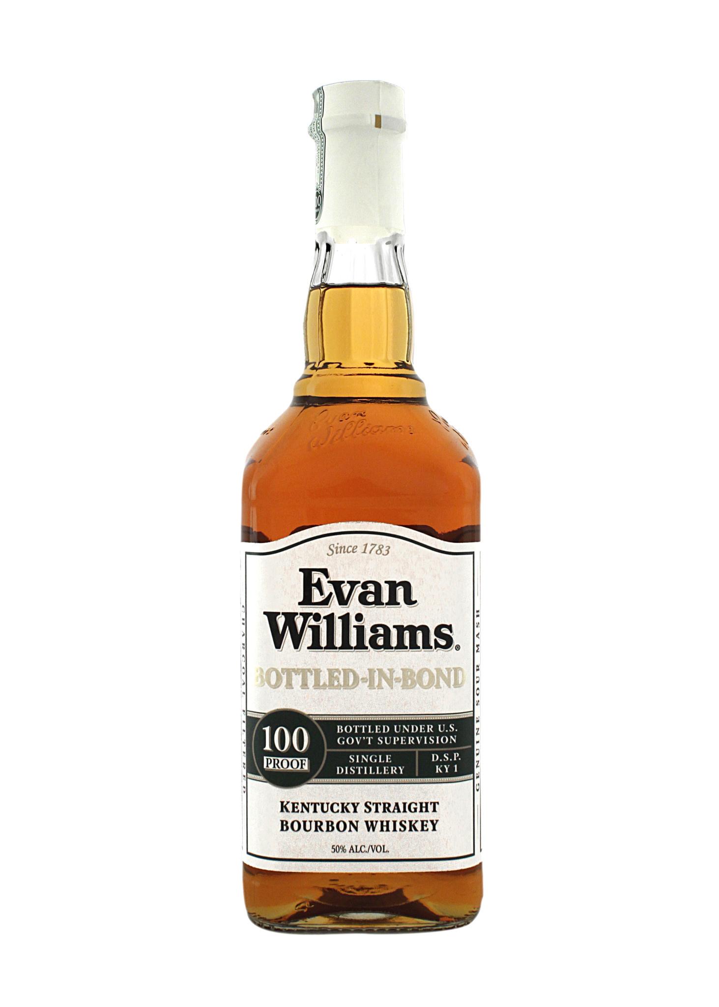 Evan Williams Kentucky Straight Bourbon Whiskey - Bottled in Bond 100 proof