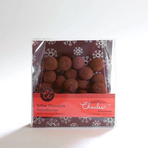 Charles Chocolates Toffee Chocolate Macadamias, 6.3 oz