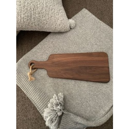 "American Farmhouse Designs - Small Walnut Charcuterie Paddle, 15""L x 5.5""/7.5""W"