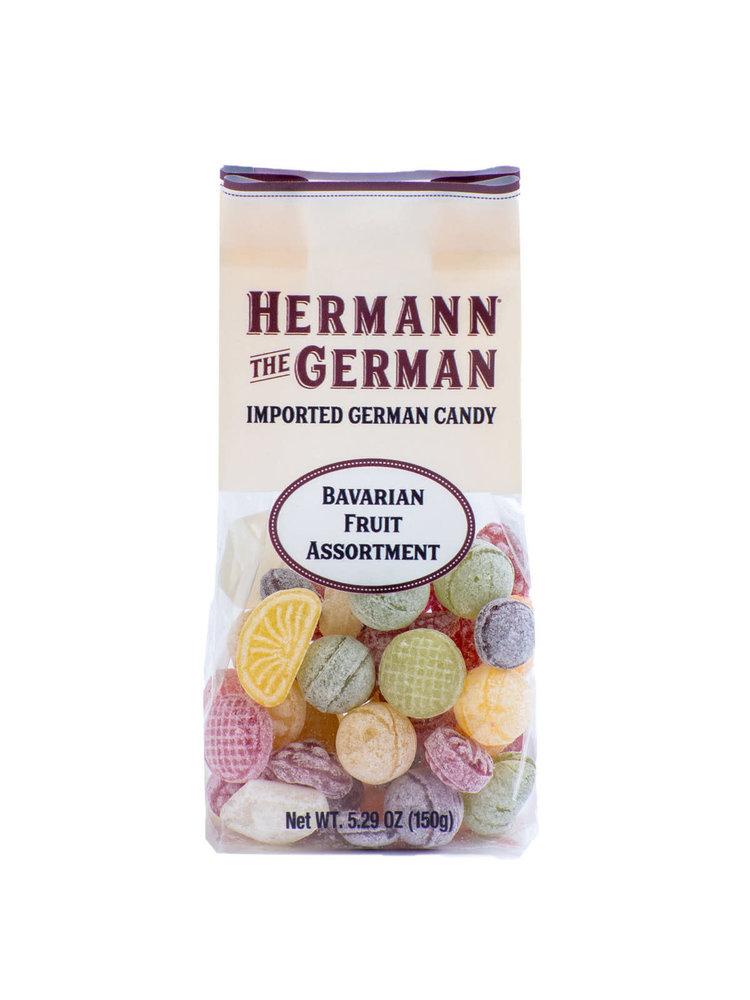 Hermann the German Hard Candies - Bavarian Fruit Assortment Hard Candy, 5.29 oz