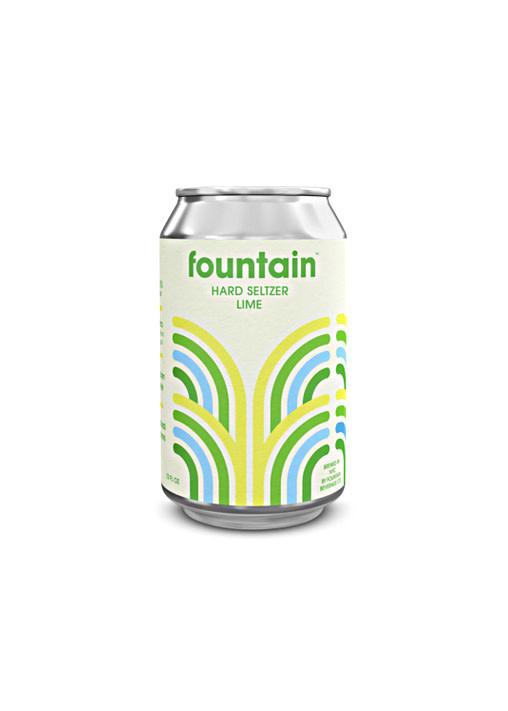 Fountain Lime Hard Seltzer 12oz. can - San Diego, CA