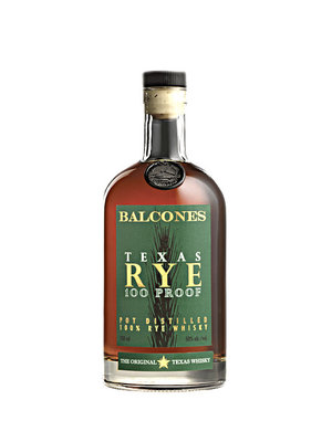 Balcones Texas 100 Proof Pot Distilled Straight Rye Whisky