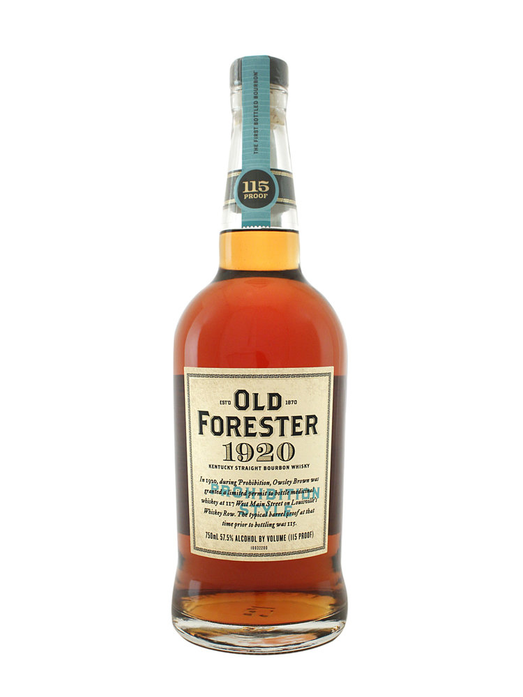 Old Forester 1920 Kentucky Straight Bourbon Whiskey, Prohibition Style, Louisville, Kentucky