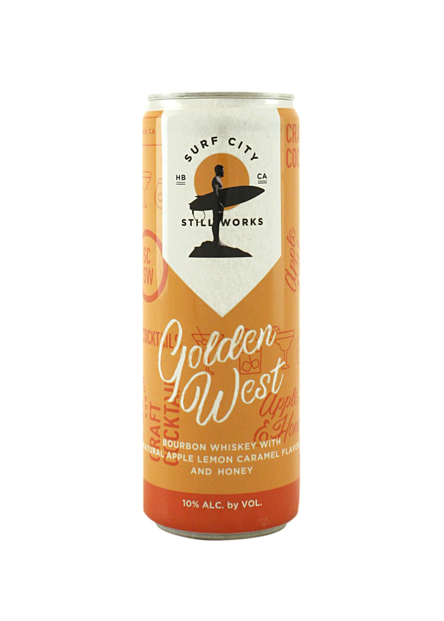 "Surf City Still Works ""Golden West"" Cocktail Bourbon w/Apple, Lemon 12oz., Huntington Beach"